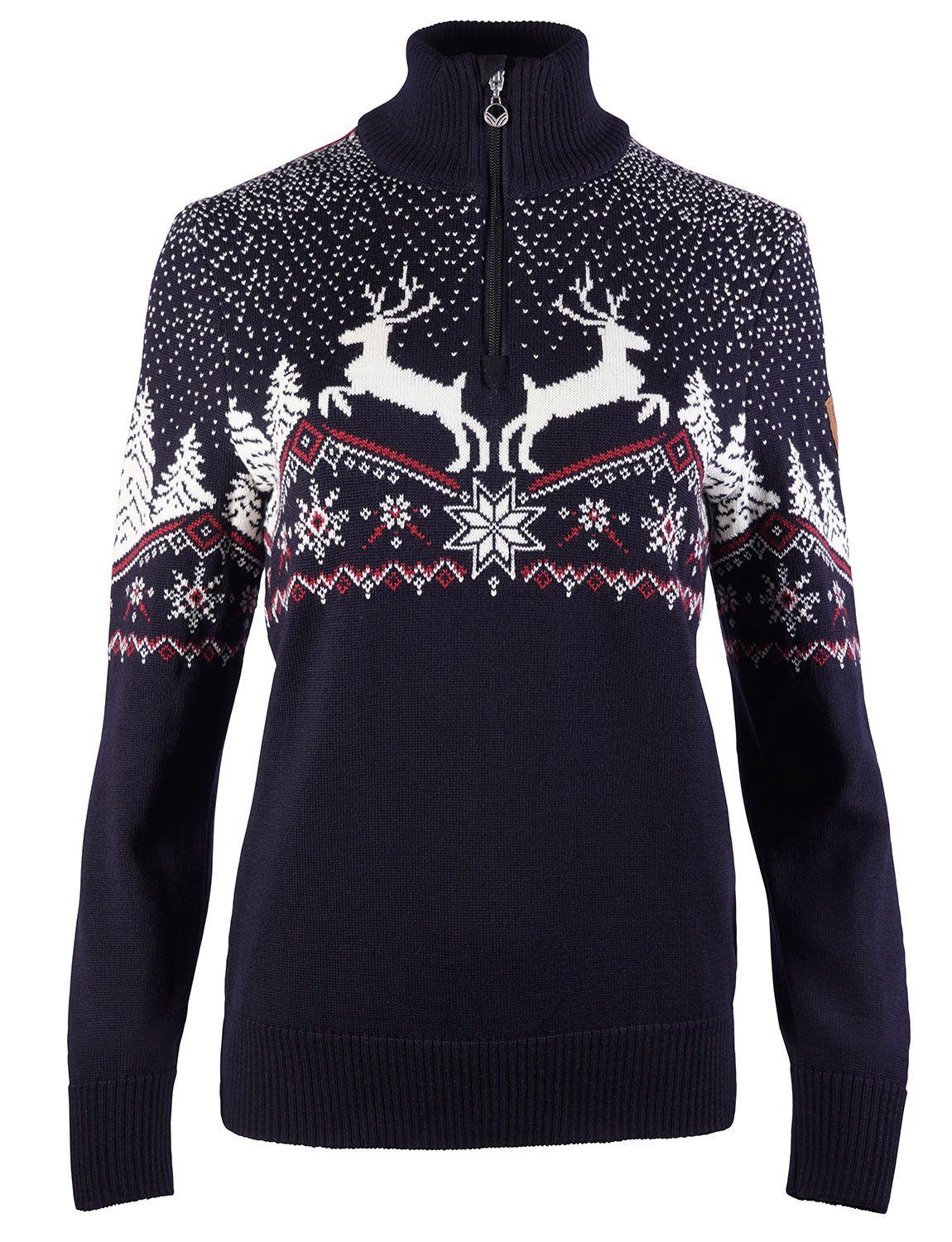 Christmas Feminine Sweater Navy
