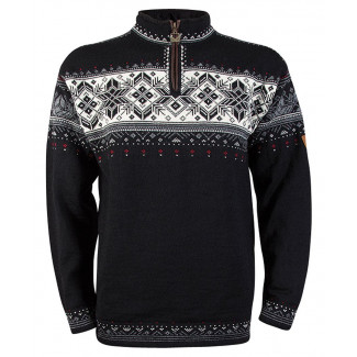 Blyfjell Unisex Sweater - Black / Off-White / Smoke / Raspberry
