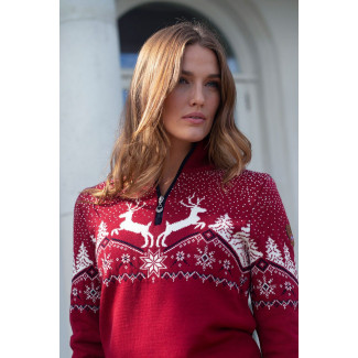 Christmas Feminine Sweater Red
