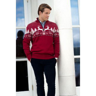Christmas Masculine Sweater Red