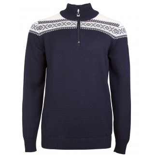 Cortina Merino Sweater - Navy / Off White