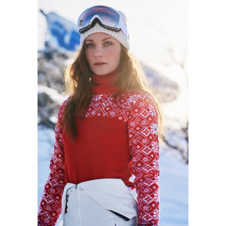 Mount Red women's sweater - Red