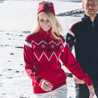 Seefeld Feminine Sweater Red