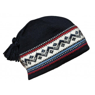 Vail Hat - navy / red rose / off white / indigo