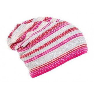 Vinje Hat - allium-beige-metal-raspberry-off-white